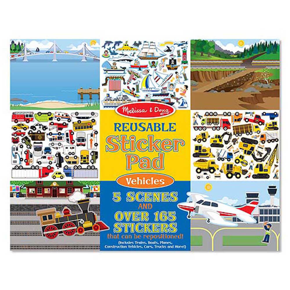 Melissa and Doug Reusable Sticker Pad - Vehicles MOQ3