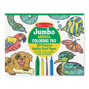 Melissa and Doug Jumbo Colouring Pad Animals MOQ3