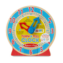 Load image into Gallery viewer, Melissa and Doug Turn & Tell Clock