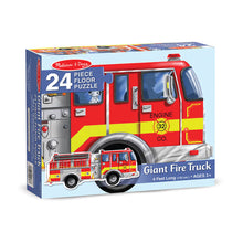 Load image into Gallery viewer, Melissa and Doug Giant Fire Truck Floor Puzzle 24pc
