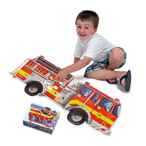 Melissa and Doug Giant Fire Truck Floor Puzzle 24pc