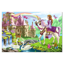 Load image into Gallery viewer, Melissa and Doug Fairy Tale Castle Floor Puzzle 48pc
