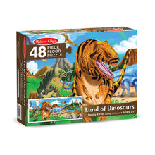 Load image into Gallery viewer, Melissa and Doug Land of Dinosaurs Floor Puzzle 48pc