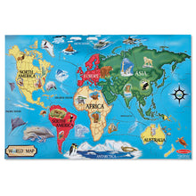 Load image into Gallery viewer, Melissa and Doug World Map Floor Puzzle 33pcs