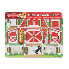 Load image into Gallery viewer, Melissa and Doug Magnetic Farm Hide & Seek Board
