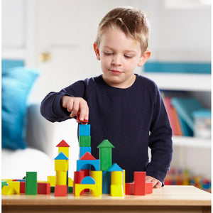 Melissa and Doug 100 Wooden Blocks Set