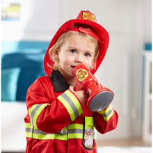 Load image into Gallery viewer, Melissa and Doug Fire Chief Costume Role Play Set