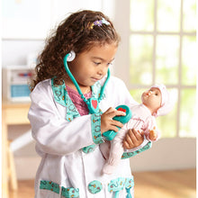 Load image into Gallery viewer, Melissa and Doug Doctor Costume Role Play Set