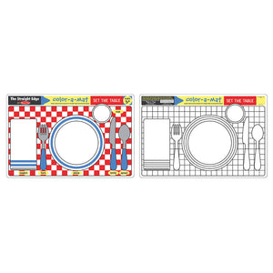Melissa and Doug Set the Table Colour-A-Mat 6pcs