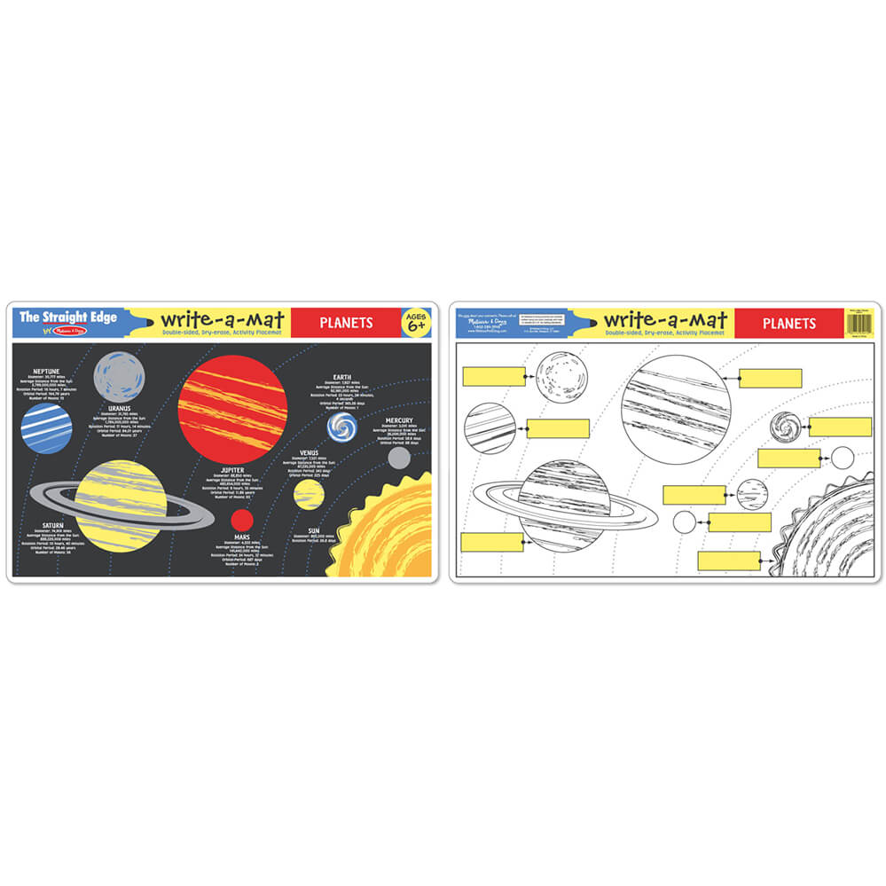 Melissa and Doug Planets Write-A-Mat 6pcs