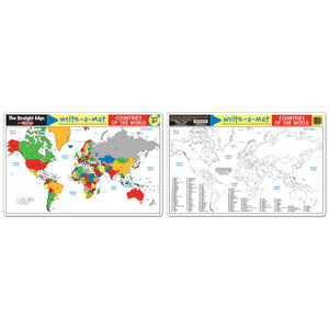 Melissa and Doug Countries of the World Write-A-Mat 6pcs