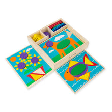 Load image into Gallery viewer, Melissa and Doug Beginner Pattern Blocks