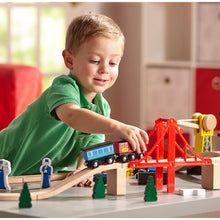 Load image into Gallery viewer, Melissa and Doug Wooden Railway Set