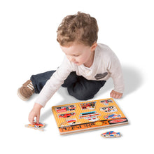 Load image into Gallery viewer, Melissa and Doug Vehicles Sound Puzzle