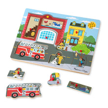 Load image into Gallery viewer, Melissa and Doug Around the Fire Station Sound Puzzle