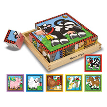 Load image into Gallery viewer, Melissa and Doug Farm Cube Puzzle