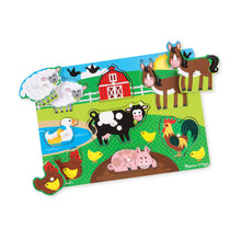 Load image into Gallery viewer, Melissa and Doug Farm Peg Puzzle