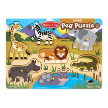 Load image into Gallery viewer, Melissa and Doug Safari Peg Puzzle