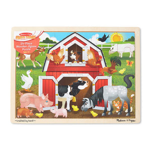 Melissa and Doug Barnyard Jigsaw 24pcs