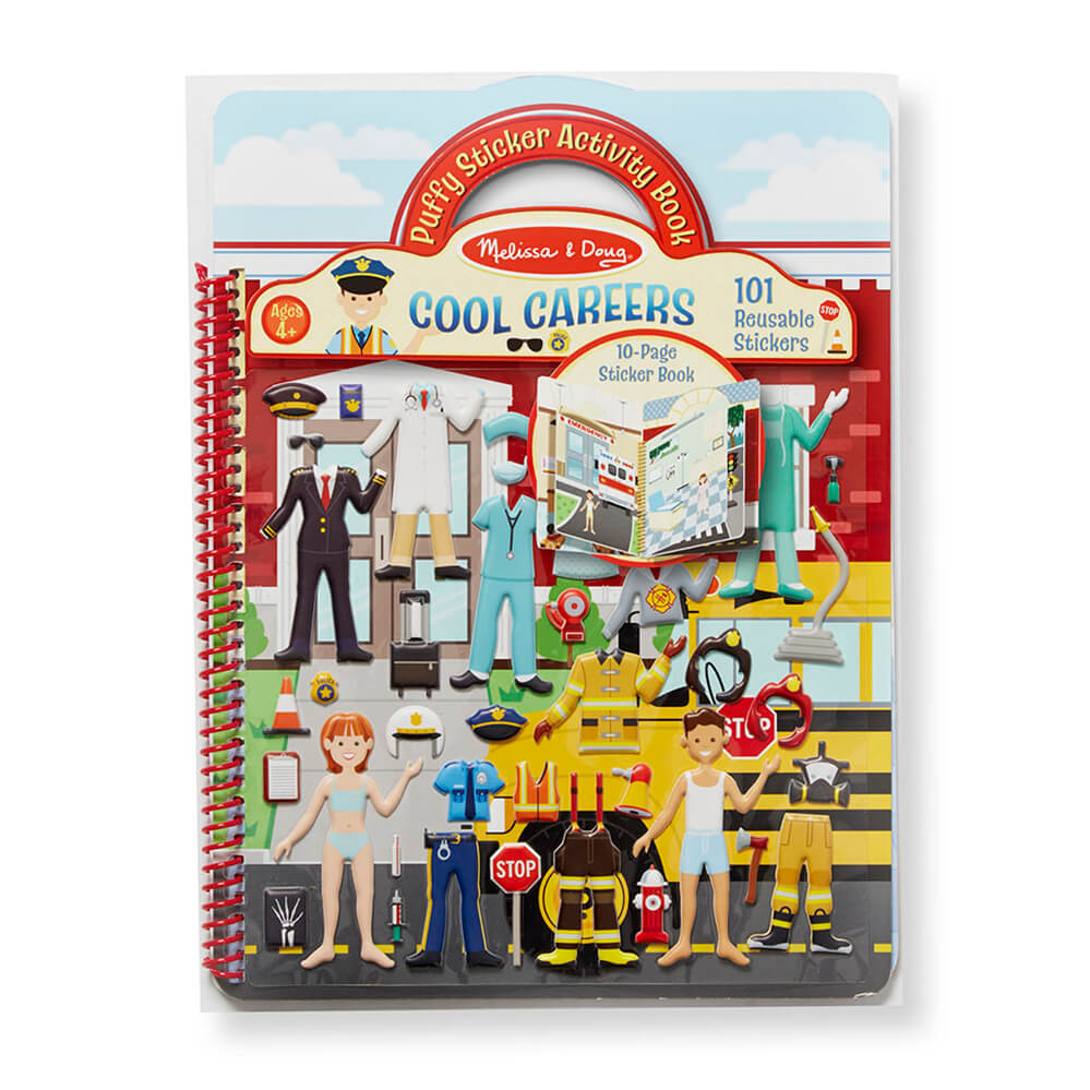 Melissa and Doug Cool Careers Puffy Stickers Album MOQ3