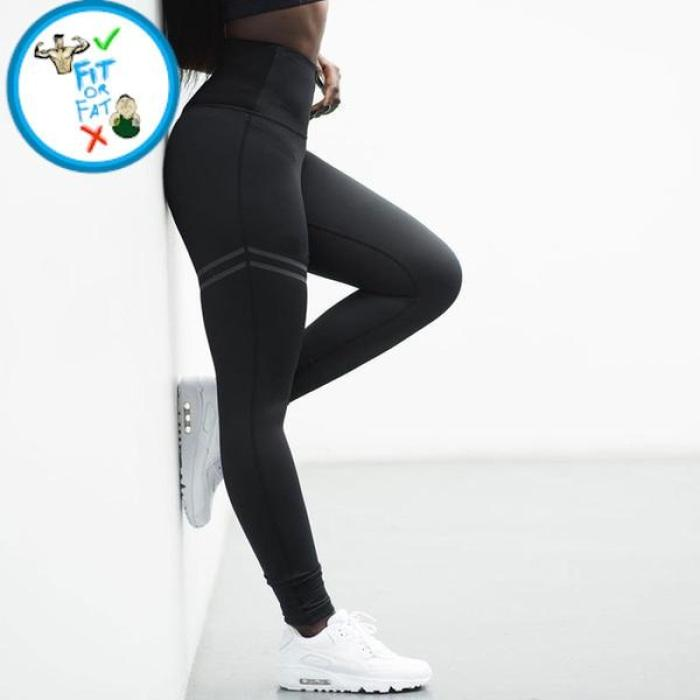 Leggings Push Up Black Line / S