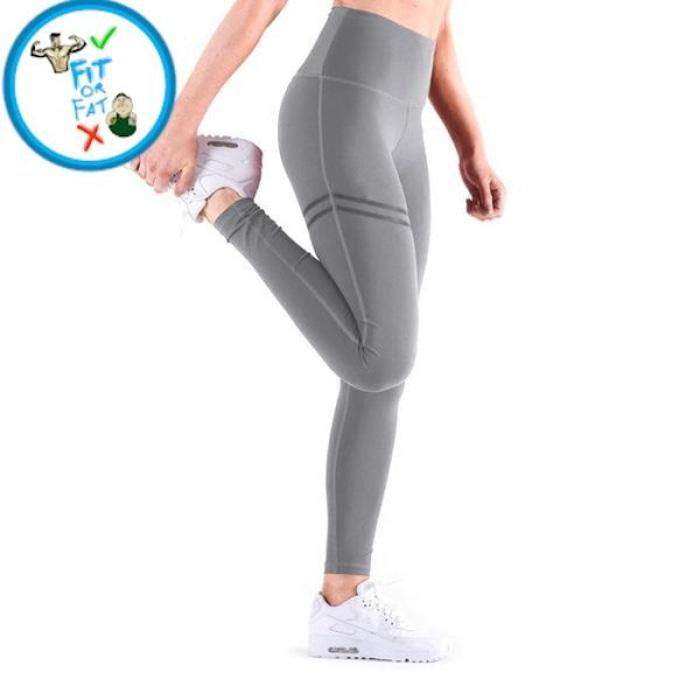 Leggings Push Up Gray Hype / S