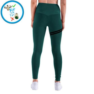 Leggings Push Up Green Gross / S