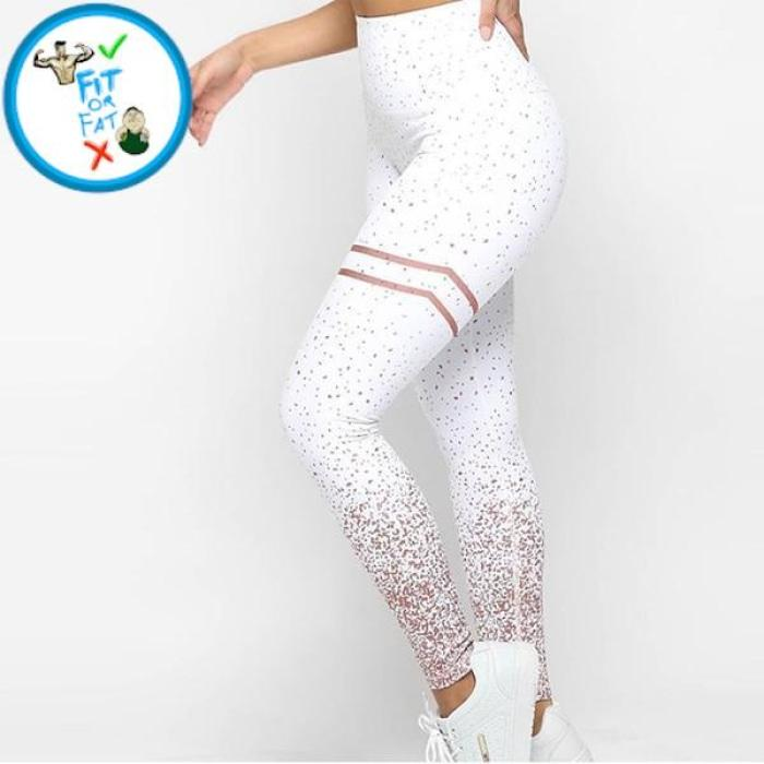 Leggings Push Up White / L