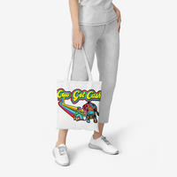 Cow Got Cash Large Natural Canvas Tote Bags
