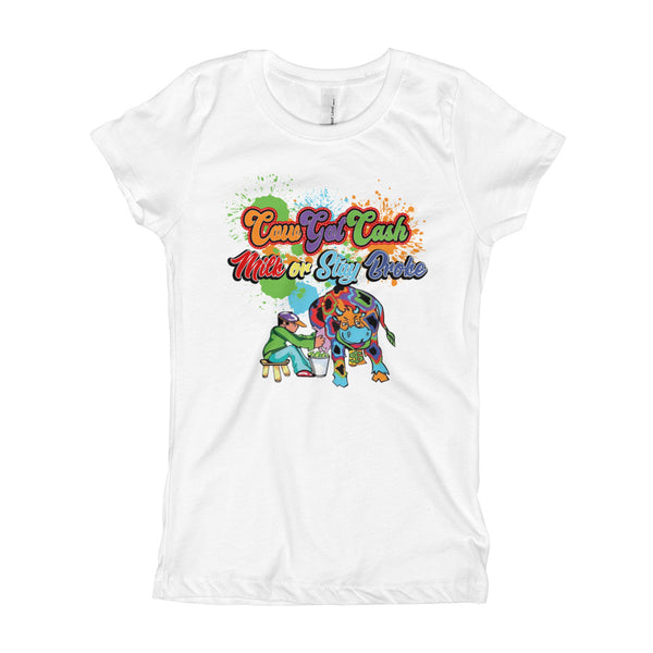 Youth Girls CGC Color Splash T-Shirt - CowBrand Clothing Store