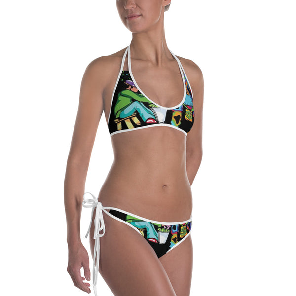 Ladies Cow Got Cash Logo Bikini - CowBrand Clothing Store