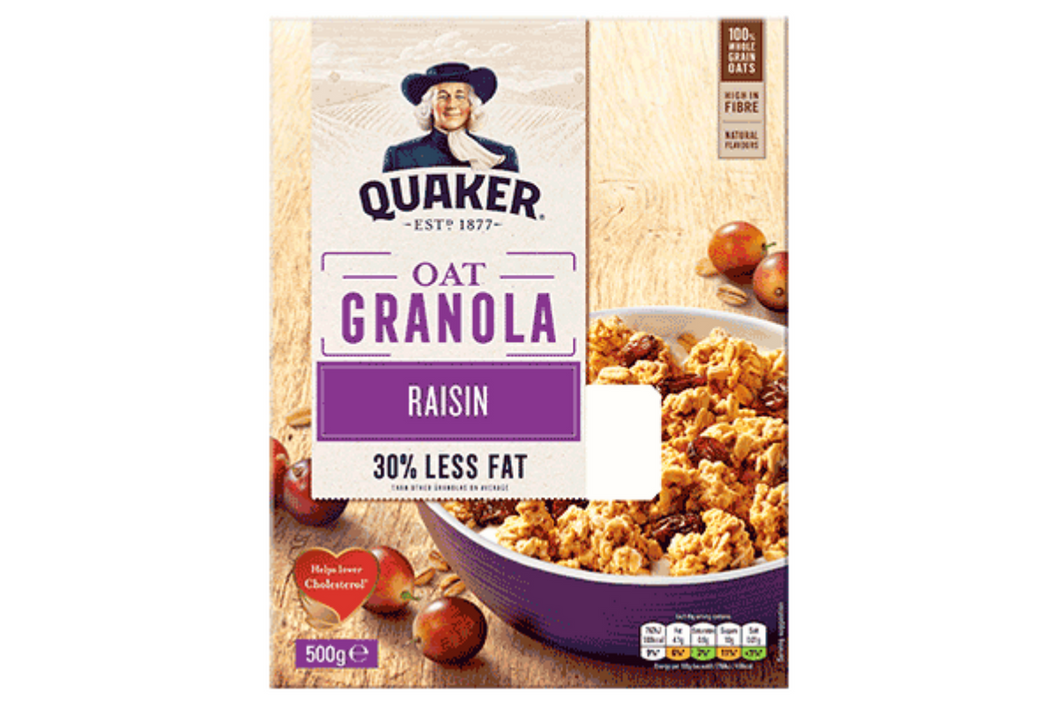 Quacker Oats Granola Raisin