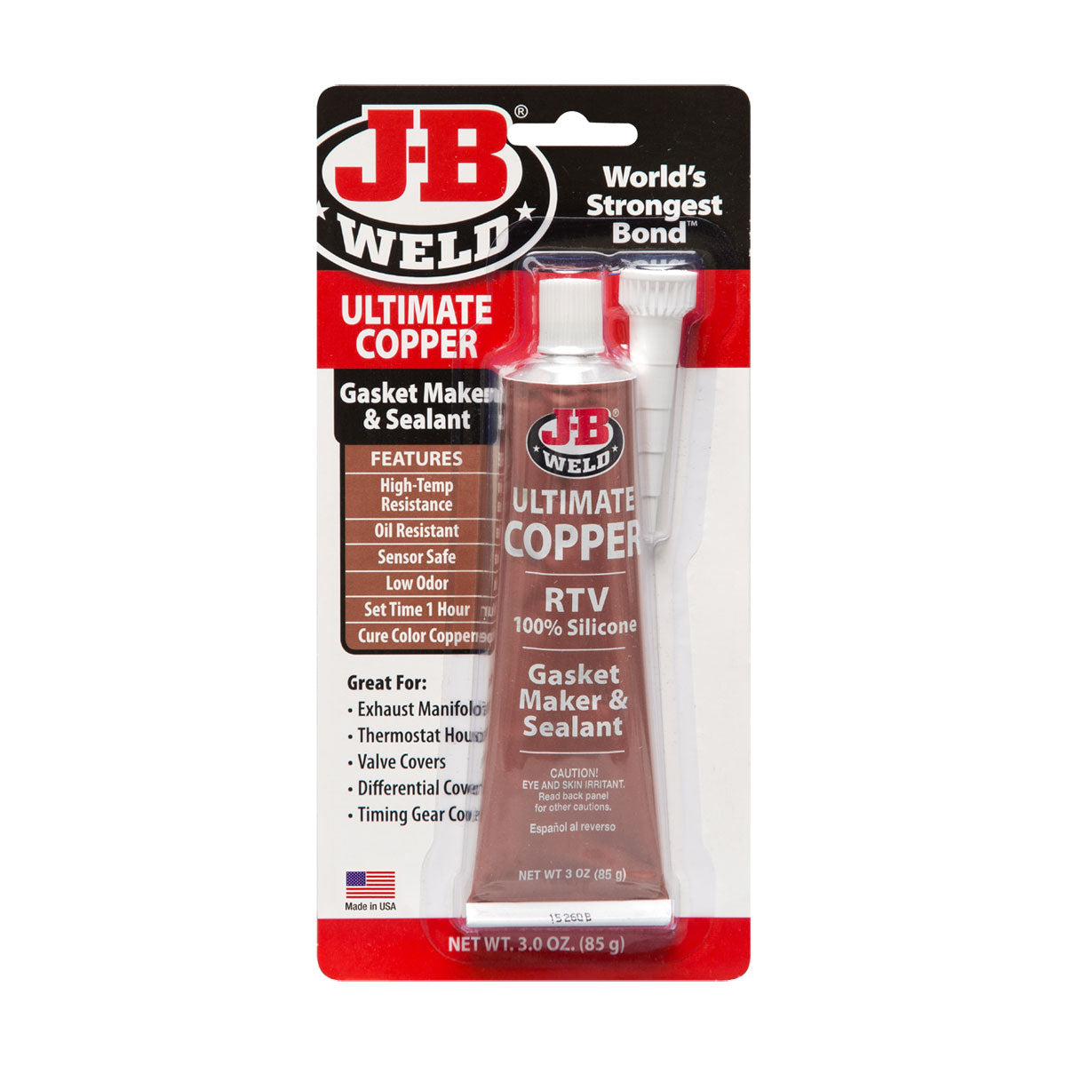J-B Weld® Ultimate Copper Silicone – Gasket Maker