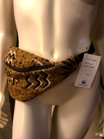 Mudcloth Hip Bag in Tan Print