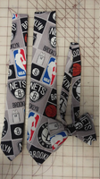 Brooklyn Nets NBA Neckties in bow tie, skinny tie, and standard tie styles, kids or adult sizes