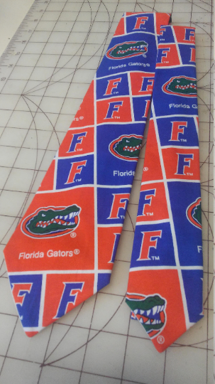 Florida Gators Neckties in bow tie, skinny tie, and standard tie styles, kids or adult sizes
