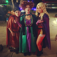 Kids Hocus Pocus Sanderson Sisters Cosplay Witch Costumes