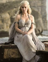 Game of Thrones Khaleesi Wedding and Funeral Gown Costume Cosplay Daenerys