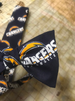 NFL San Diego Chargers Neckties in bow tie, skinny tie, and standard tie styles, kids or adult sizes