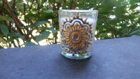 Mini Votive Candles w/ Hand-Painted Henna Designs