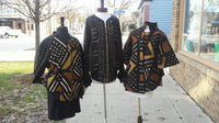African Mud Cloth Reversible Unisex Bomber Jacket