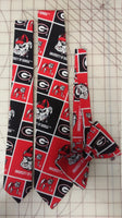 University of Georgia Bulldogs Neckties in bow tie, skinny tie, and standard tie styles, kids or adult sizes