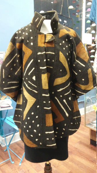 African Mudcloth Cape