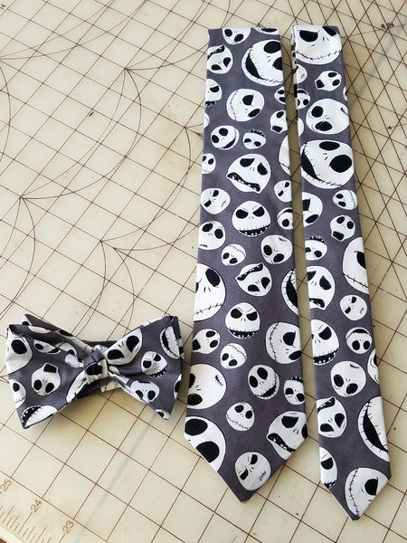 Jack Skellington Nightmare Before Christmas Neckties in adult and kids skinny styles