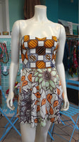 Vlisco Ankara Bombshell Mini Dress in African Wax Block Cotton