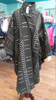 Long African Mudcloth Cape