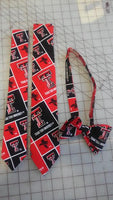 Texas Tech Red Raiders Neckties in bow tie, skinny tie, and standard tie styles, kids or adult sizes