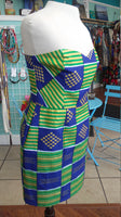 Ankara Bombshell Mini Dress in Beautiful African Cotton