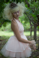 Couture Pink Petal & Tulle Bridesmaid Dress