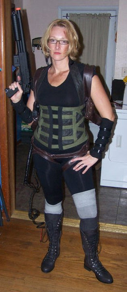 Resident Evil Alice Cosplay Corset and Gun Holsters Costume